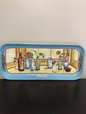 "Coca Cola Coke ""Bottles on the Sill"" Metal Tray by Jeanne Mack"