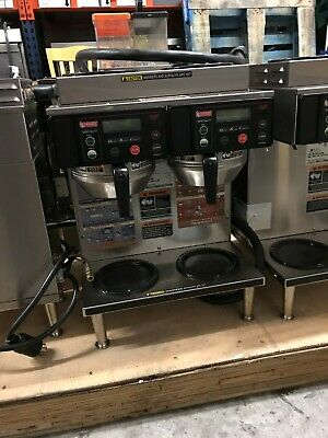 2017 Bunn Axiom 22 Twin 12 Cup Automatic Coffee Brewer With 2 Upper Warmers