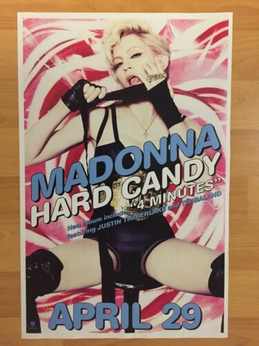 "Rare MADONNA Hard Candy 11"" x 17"" 2-sided Promo Poster Sexy Justin Timberlake"