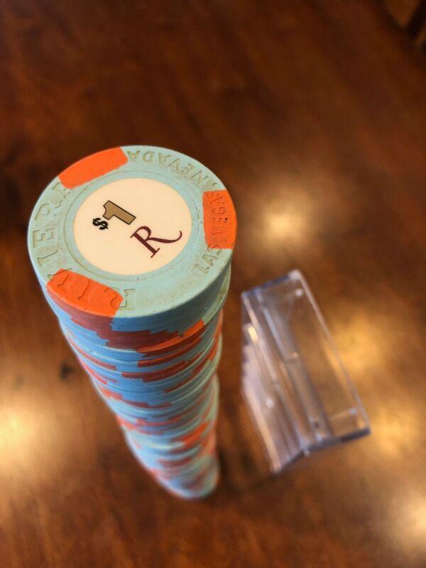 $1 DOLLAR POKER GAMING CHIP RIVIERA CASINO LAS VEGAS, free shipping!