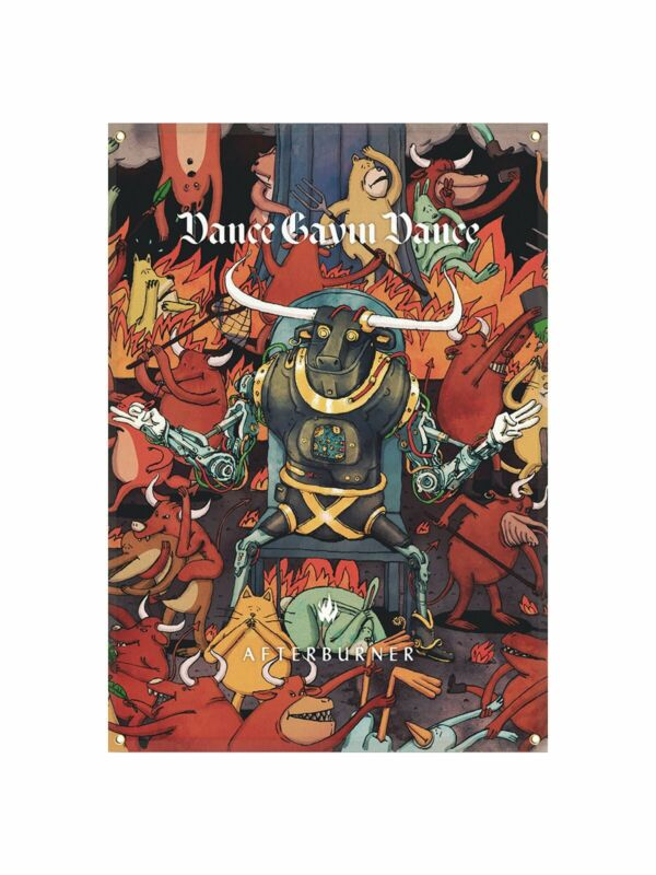 Dance Gavin Dance - Afterburner Wall Flag with Grommets /500. Ships next day