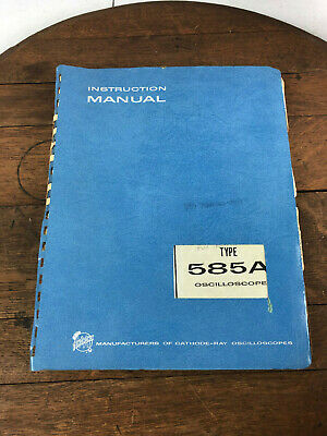 Vintage Tektronix Type 585a Oscilloscope Instruction Manual