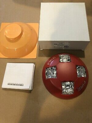 Edwards Gcvrf Ceiling Strobe 15-115cd Red Fire Alarm Device