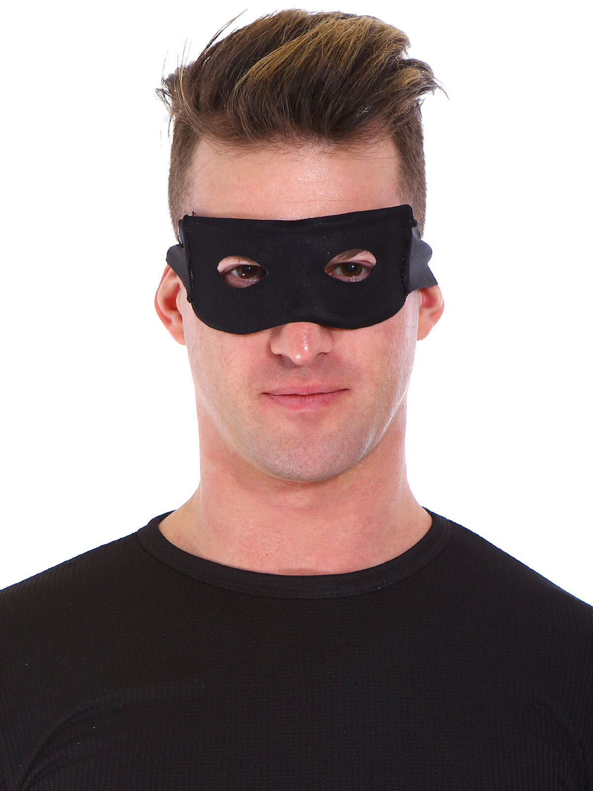 black eye mask adult mens eye mask bandit zorro halloween costume fancy dress. Black Bedroom Furniture Sets. Home Design Ideas