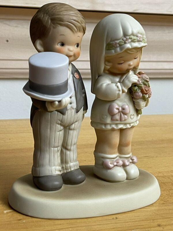Memories of Yesterday Here comes the bride/groom GodBless 520896 1988 Enesco