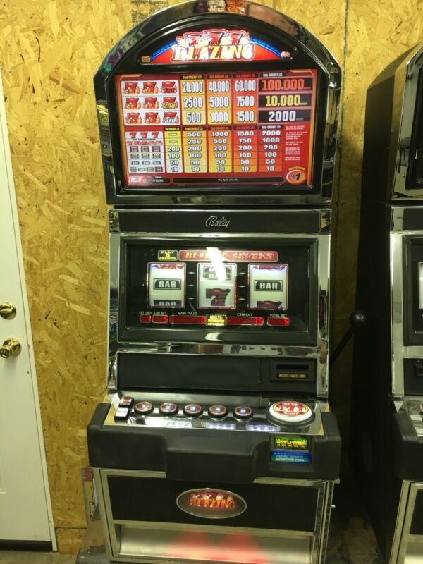 Bally Alpha Blazing 7's  SLOT MACHINE