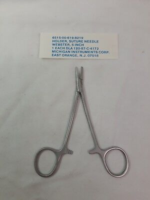 New Michigan Suture Needle Holder Webster 5