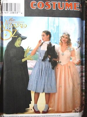SIMPLICITY PATTERN 7808 MISS WIZARD OF OZ Witch Dorothy HALLOWEEN COSTUME 12-16](Wizard Of Oz Halloween Costume Patterns)