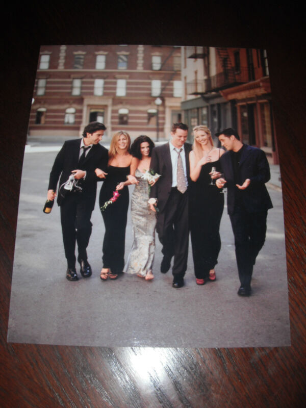 FRIENDS Cox Aniston Schwimmer Kudrow LeBlanc Perry Color 8x10 Promo Photo Pic