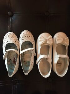 Two white shoes for girls pick up from timberlea