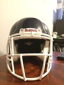 Riddell speed navy blue with white cage