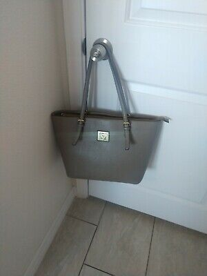 Anne Klein Gray Beautiful Tote Handbag Purse EUC