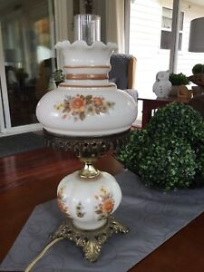 Antique Style Double Globe Table Lamp