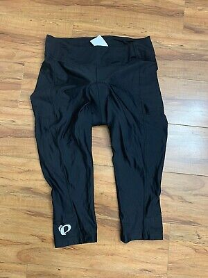 "WOMEN'S PEARL IZUMI SELECT PADDED CYCLING CAPRI PANTS BLACK XL 20"" INSEAM"