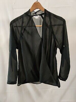 HELMUT LANG Black Blouse See Through Size Small Made in USA