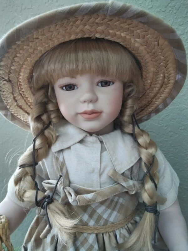 "VTG. Extremely Rare. Gorgeous GRETA by KingState 26"" Porcelain Doll. EXC. COA."