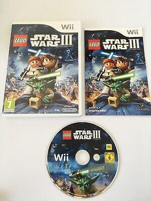 Lego Star Wars 3 The Clone Wars (Nintendo Wii / Wii U) - Complete - PAL