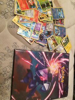 Pokemon cards and book
