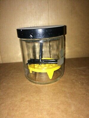 Four Screw Cap Glass Dessicator 3 Diameter By 2 With Plate Jar Tlc Chamber Lab