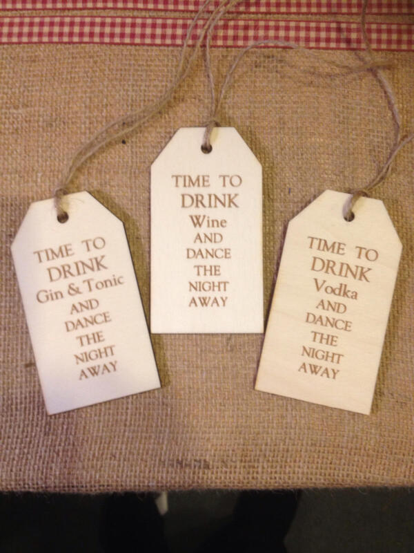 Kennedy Creations  Shabby Chic Wooden Gift Tag - Personalised / Buy 2 get 1 Free