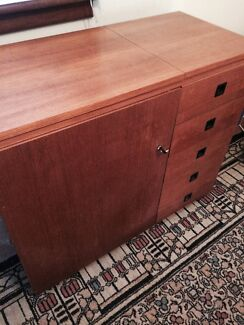 Solid wooden sewing cabinet with Janome sewing machine Beecroft Hornsby Area Preview