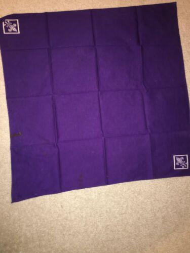 Boy Scout Purple w/ White Full Square Tenderfoot Uniform Silkscreen Neckerchief