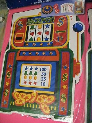 Casino Themed Party Decorations (Casino Night Cards Slots Jackpot Dice Roulette Theme Party Decoration)