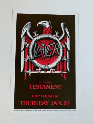Slayer with Special Guest Testament Original Concert Poster