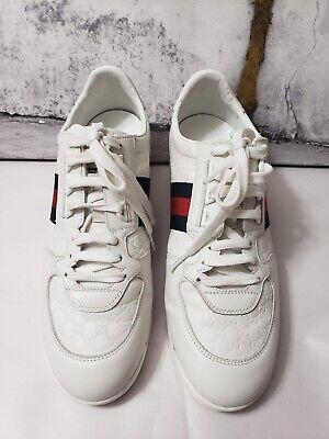 GUCCI SL 73 Sneaker White Leather Men's Shoes Sz 7 G /  8 US