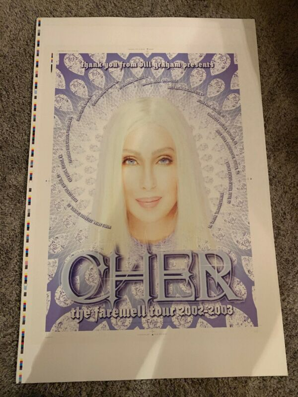 CHER Farewell Tour 2000 To 2003 Poster Print