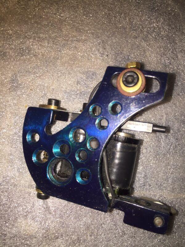 Handmade Candy Blue Welded USA Steel Liner Coil Tattoo Machine Sale