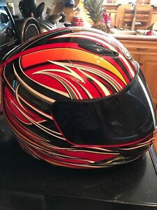 Full face helmet and riding jacket