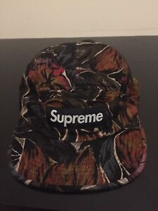 Supreme FW17 Painted Floral Camp Hat