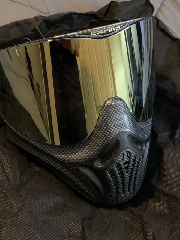 Rare Carbon Fiber E-Vents Paintball Mask