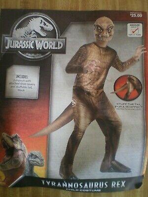 Boys Halloween Costume Jurassic World T-REX Size M 8/10 NEW Jumpsuit & Mask
