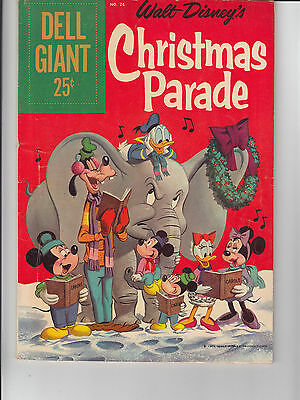 DELL GIANT CHRISTMAS PARADE #26 1959 -WALT DISNEY- BARKS-a UNCLE SCROOGE...FN/VG