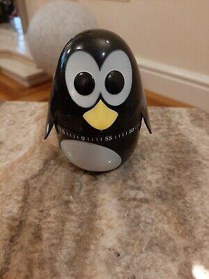 KIKKERLAND Pinguin Eieruhr NEU/OVP Eier Uhr Kurzzeitmesser Küchen-Timer 60 Min.