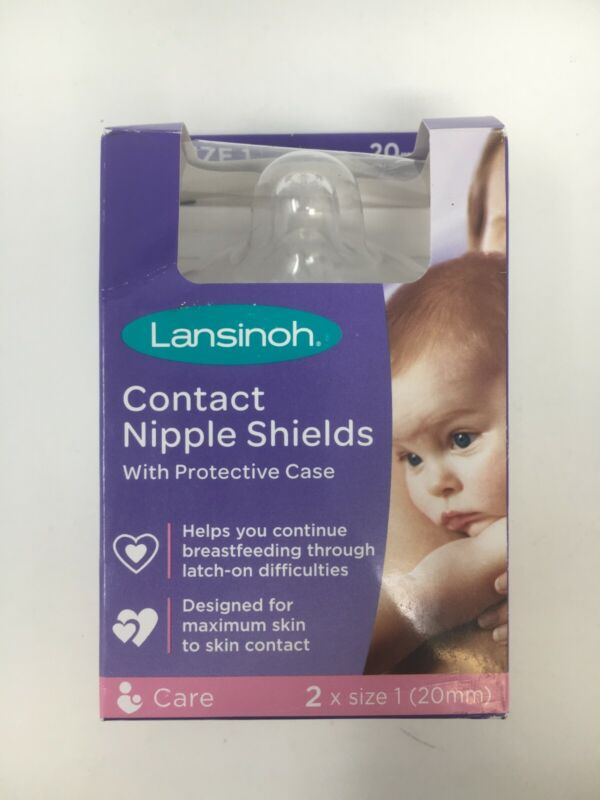 """""""Open Box - Never Used"""" - Lansinoh 20mm Contact Nipple Shields"""