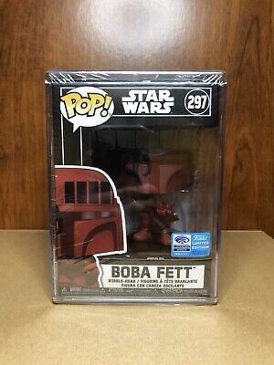 Funko Pop! Star Wars Futura #297 Boba Fett Red WonderCon 2020 Exclusive Target