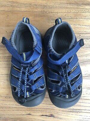 Boys Girls KEEN Newport Sandals Blue Kids Size  10 -Good Condition