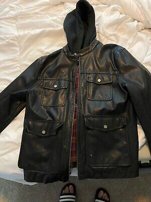 Guess Mens Leather Jacket