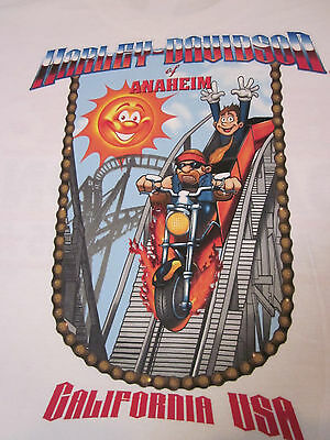 Rare  Harley- Davidson Anaheim California Theme Park Roller coaster  Shirt 2X ()