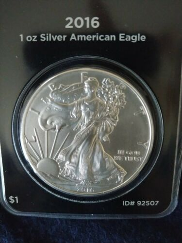 APMEX MintDirect 2016 1oz .999 Silver American Eagle Coin Sealed In Holder - $31.33