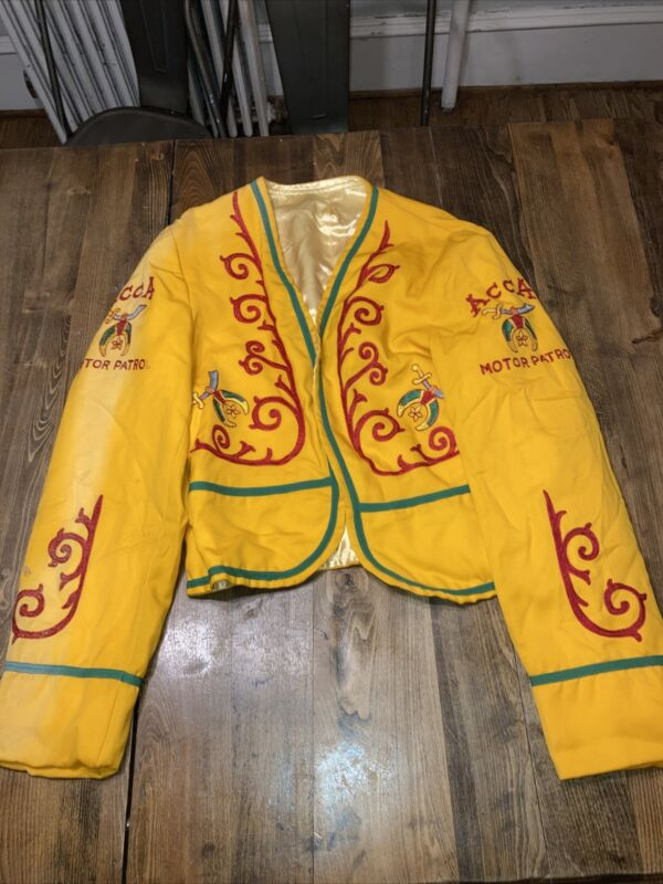 Vtg Islam ACCA Motor Patrol Custom Shriners Symbol Jacket Mason Regalia Uniform