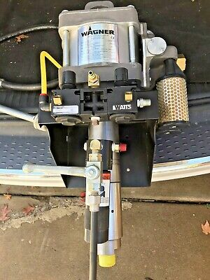 Wagner 0119100 Wall Mounted Pneumatic Airless Pump 32-150 3500 Psi 5gpm
