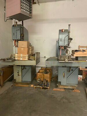 Doall Vertical Band Saws Qty 2. With 15 Blades Looking For Swift Sale Pls Offer