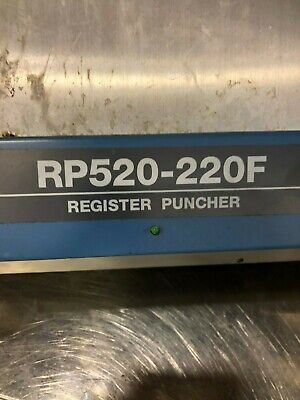 Ryobi Rp Rp 520- 220 F Plate Punch Gto 52 Plate Punch