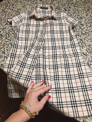 6 Years Authentic Burberry Girls' Dress Shirt Nova Check Short Sleeve Summer Kid