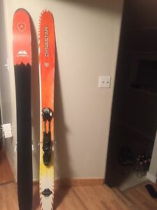 189 Powder ski with touring binding