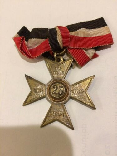 WW 1 Imperial German Veterans Bund Badge 25 year service
